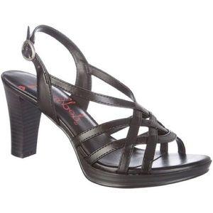 Jellypop Black Slingback Fifi Dress Sandal Heels